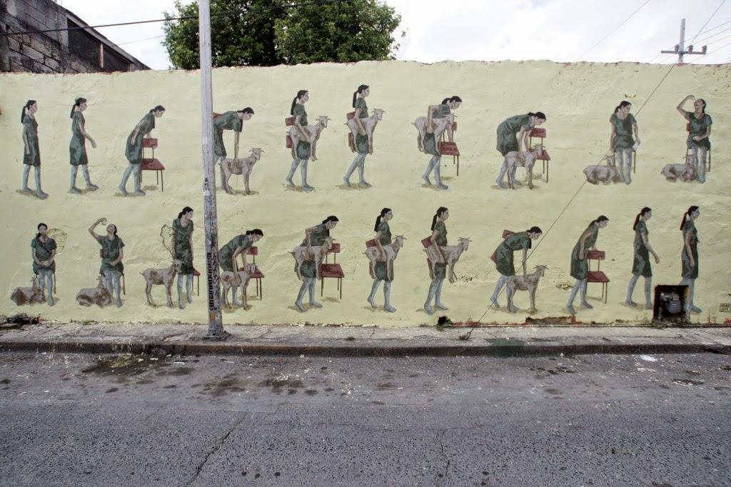 Hyuro creates a new mural in Monterrey, Mexico