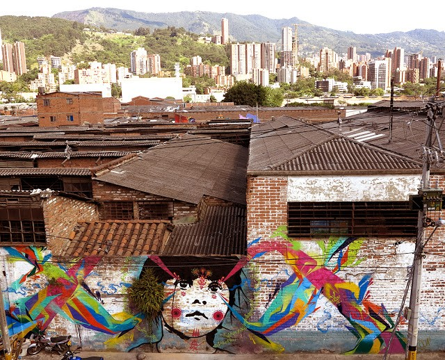 Stinkfish unveils a new piece in Medellin, Colombia