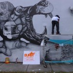 LA Pandilla New Mural In Progress, Miami (Part II)