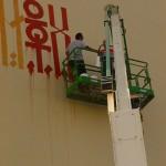RETNA New Mural In Progress, Miami