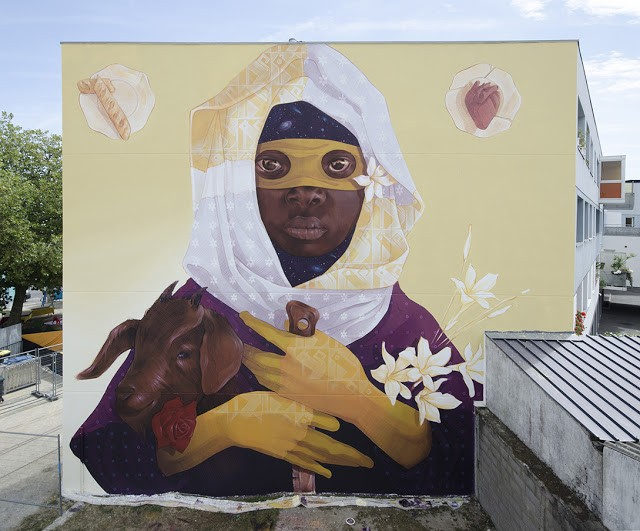 """""""Exodus 2"""", a new mural by INTI in Saint-Nazaire, France"""