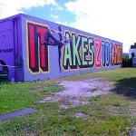 "ABOVE ""It Takes 2 To Tango"" New Mural In Miami"
