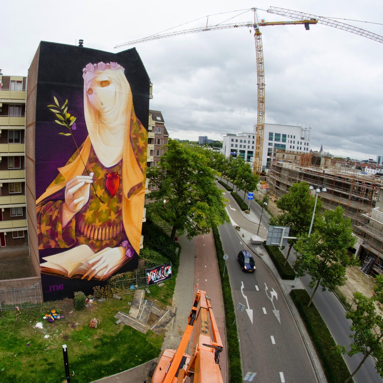 "INTI ""Creed"" New Mural For HRLN 2014 – Heerlen, Netherlands"