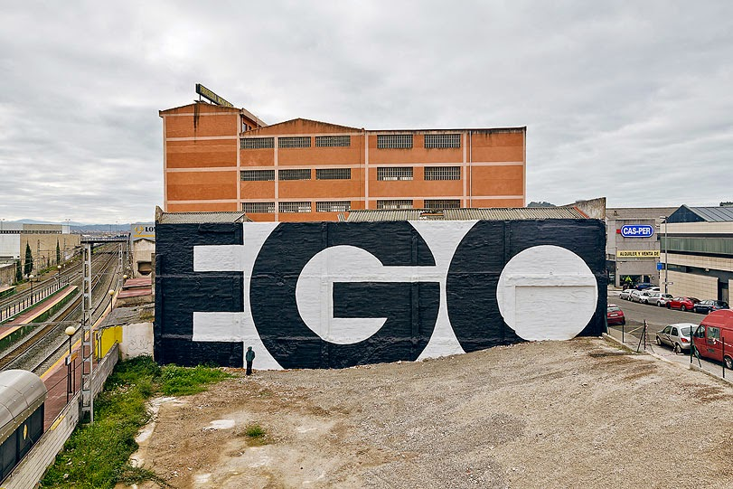 "SpY creates ""EGO"", a brand new mural in Santander, Spain"