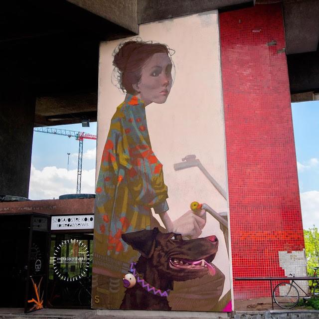 Sainer unveils a new street piece in Krakow, Poland