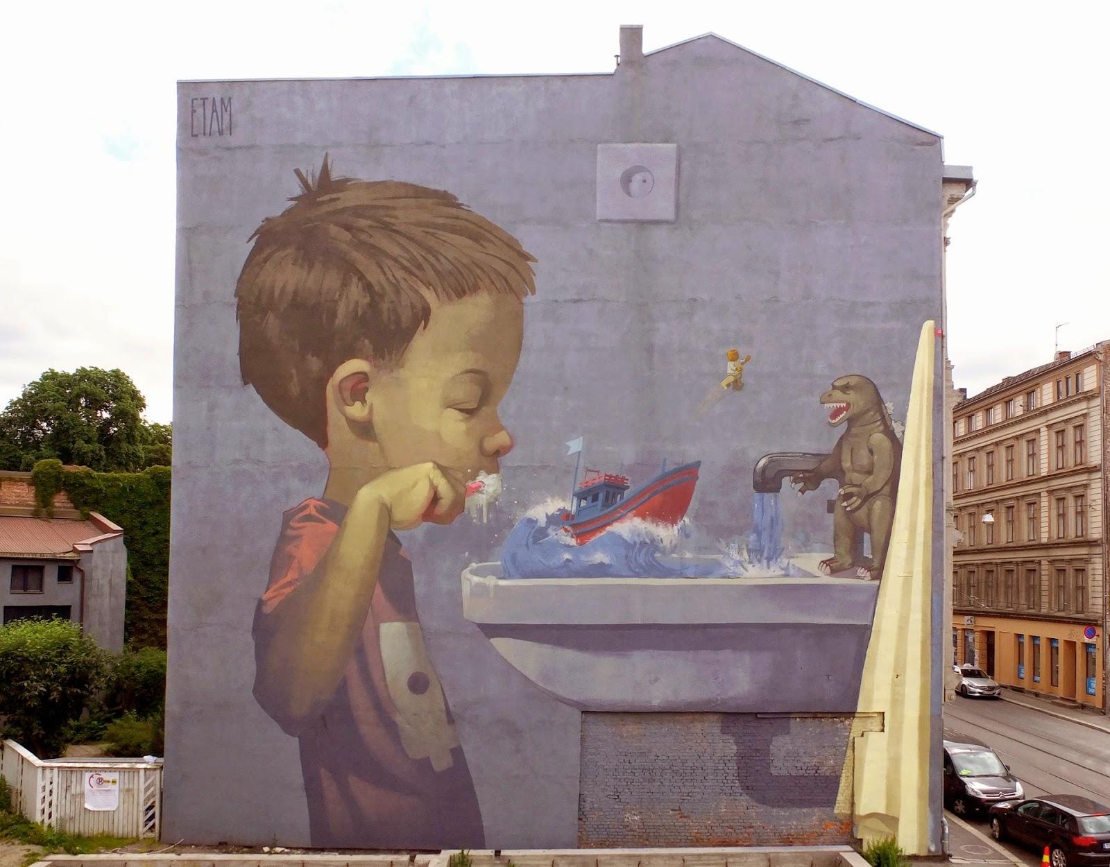 Etam Cru New Mural – Oslo, Norway