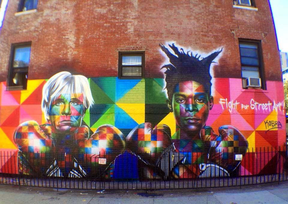"Kobra paints ""Fight For Street Art"" in New York City, USA"