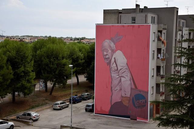 Etam Cru unveils a new mural in Civitanova Marche, Italy