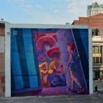 """Adventure Time"" a new mural by Natalia Rak in Providence, Rhode Island"