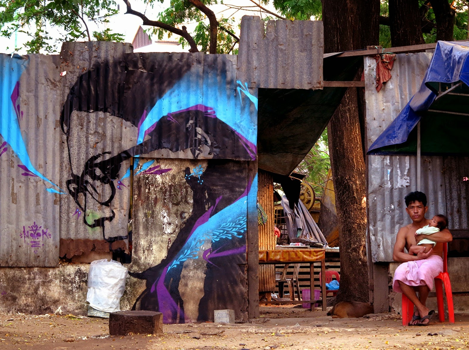 Stinkfish brings new pieces to the streets of Phnom Penh & Siem Reap in Cambodia