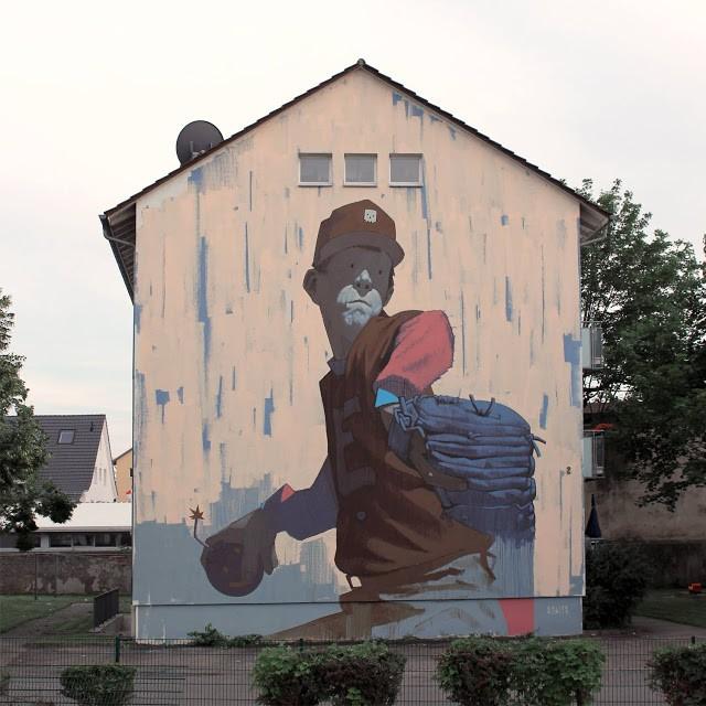"""Bomberman"" a new piece by Sainer in Weil am Rhein, Germany"