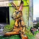 "Bordalo II unveils ""Grabb It"", a new street installation in Lisbon, Portugal"