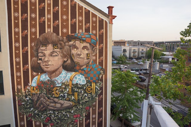 Pixel Pancho creates a large new mural in Jersey City, USA