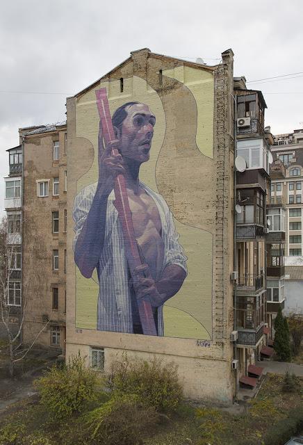 Aryz, a new mural in Kiev, Ukraine