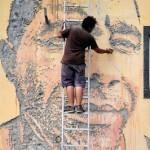 Vhils New Mural In Ponta Delgada, Portugal