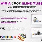"JBOY x StreetArtNews ""Blind Tubes"" Giveaway"