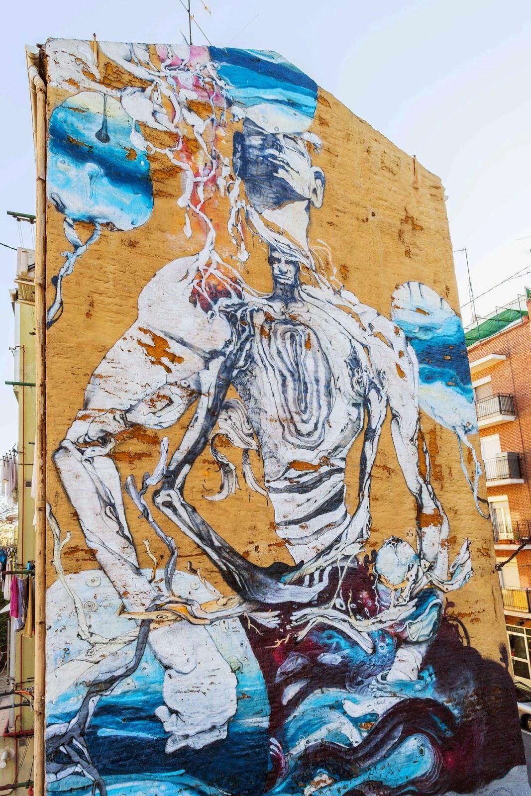 "Laguna creates ""Inside Usera"", a new mural in Madrid, Spain"
