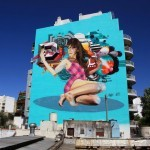 Martin Ron and Nase Pop collaborate on a new mural in Buenos Aires, Argentina