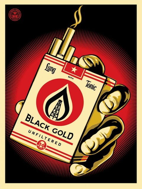 """Shepard Fairey """"Black Gold"""" Limited Edition Print Release"""