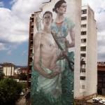 "Aryz ""Priapus and Demeter"" New Mural – Granollers, Spain"