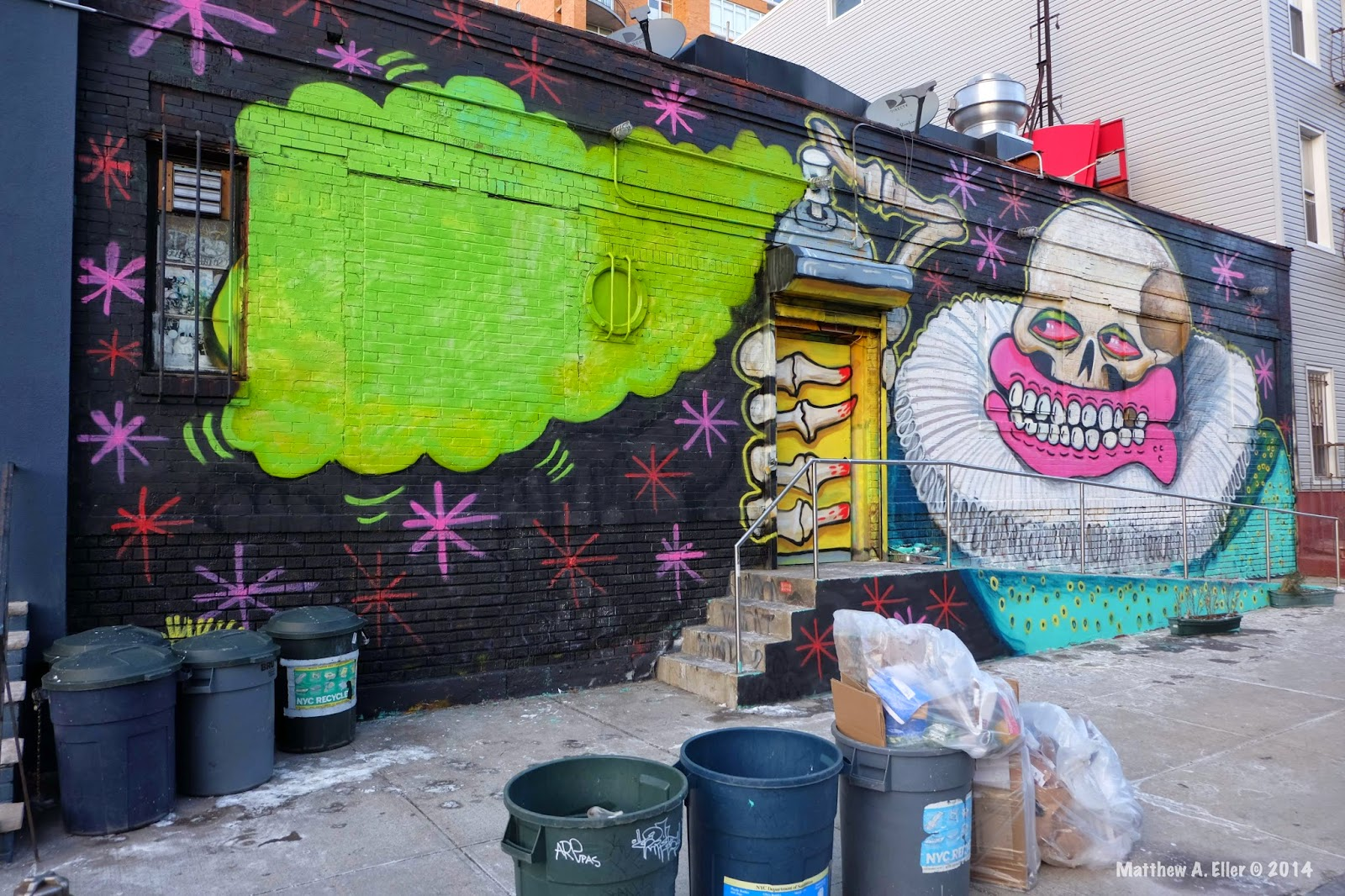 Sweet Toof paints a new mural in WIlliamsburg Brooklyn, NYC