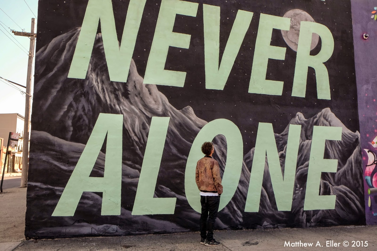 "Cyrcle's New Mural ""Never Never Alone"" for The Bushwick Collective in Brooklyn"