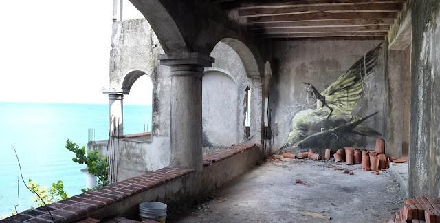 "SeaWalls '15: Faith47 ""Libertad"" in Cozumel, Mexico"