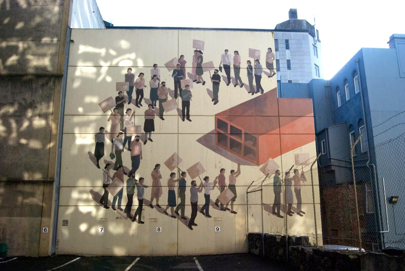 Hyuro unveils two new murals in Dunedin, New Zealand