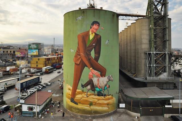 AEC Interesni Kazki creates a new mural in Catania, Sicily