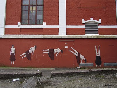 "Escif ""Hang-Over"" New Mural In Stavanger, Norway"