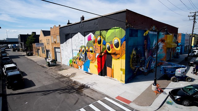 Hebru Brantley creates something new for Murals In The Market in Detroit