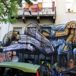 """""""No Land For The Poor"""", a new mural by WD in Athens, Greece"""