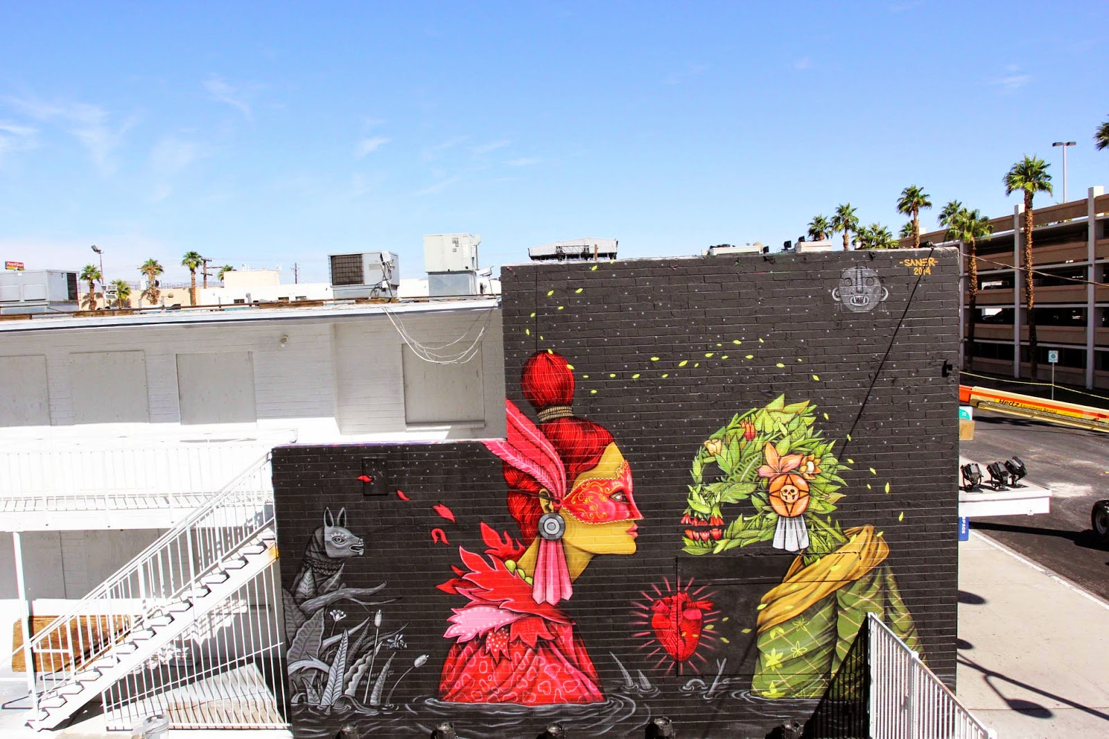 Saner creates a new mural in Las Vegas for JustKids and Life Is Beautiful