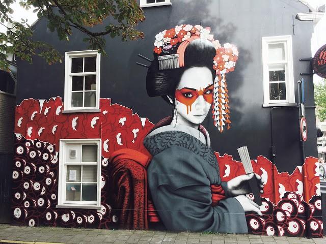 """""""Kokesh"""", a collaborative mural by Fin DAC, Edo Rath & Nol Art in Breda, Netherlands"""