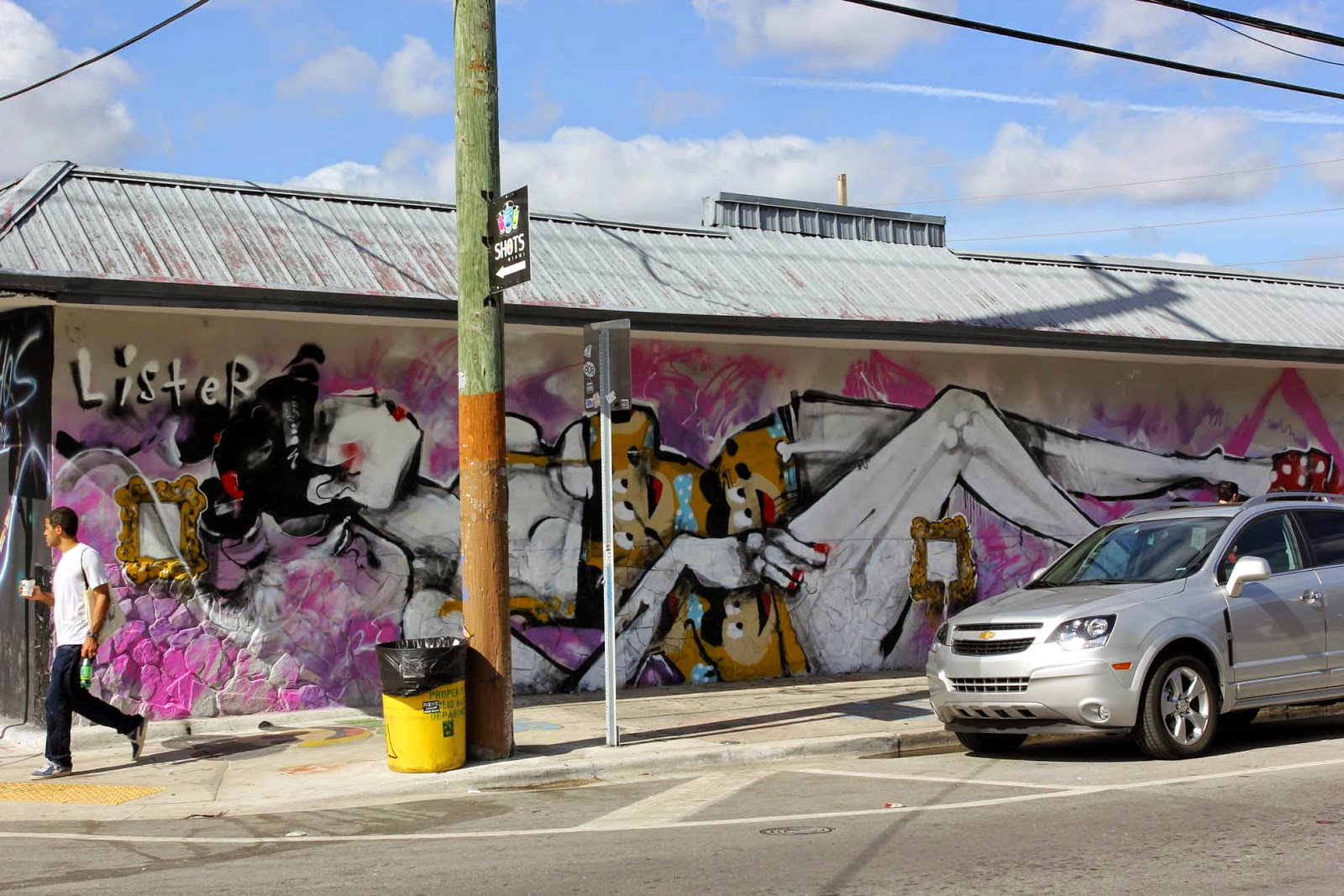 Art Basel '14: Anthony Lister paints a new mural on 2nd Ave in Wynwood, Miami