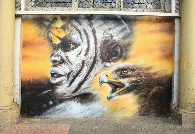 Dale Grimshaw reveals a new street art piece in London, UK