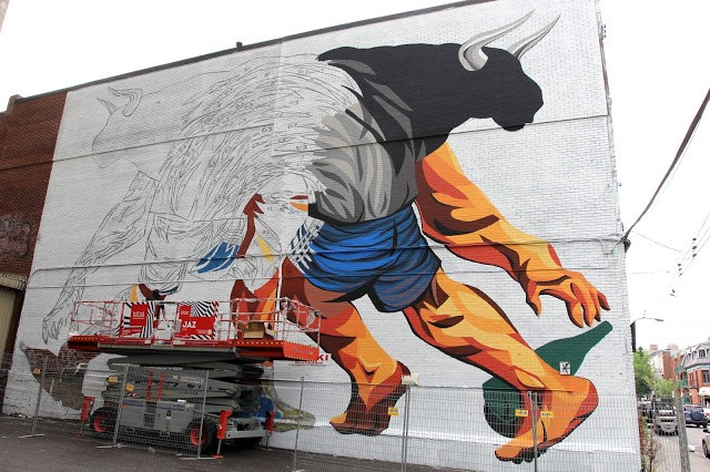 Mural '15: JAZ working on a massive mural in Montreal, Canada