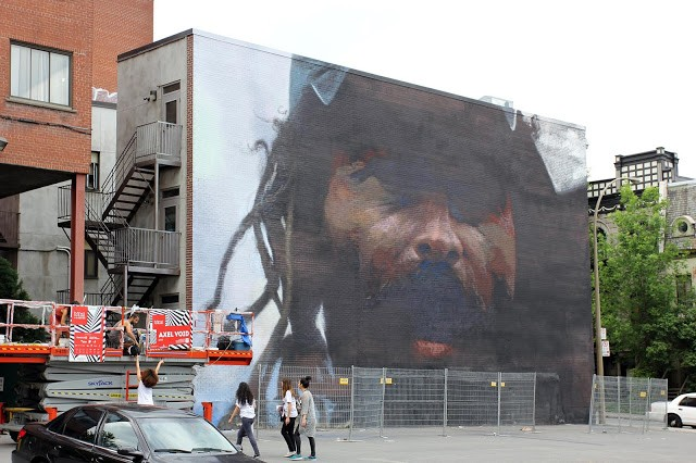 Mural '15: Work In Progress by Axel Void in Montreal, Canada