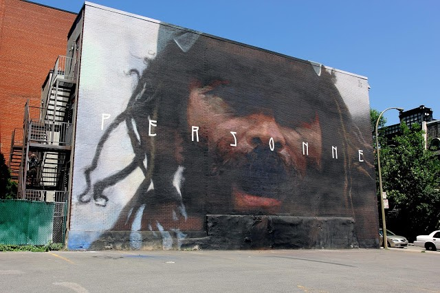 """Mural '15: """"Personne"""", a new mural by Axel Void in Montreal, Canada"""