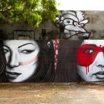 "Fin DAC x Angelina Christina ""Double Dutch"" New Mural For Art Basel '13 – Miami, USA"