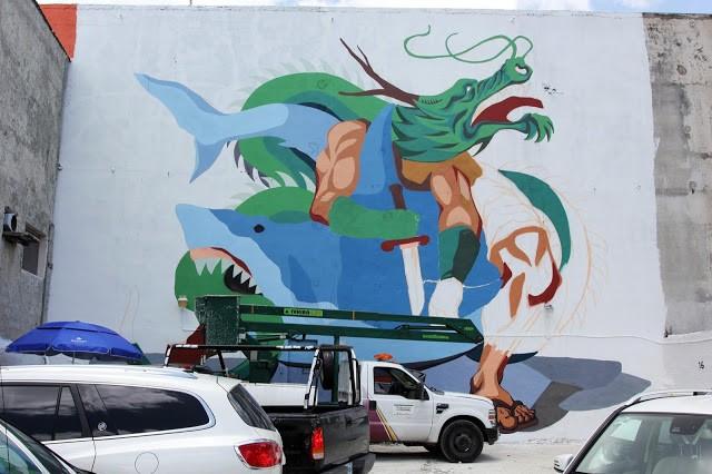 SeaWalls '15: Work in progress by JAZ in Cozumel, Mexico