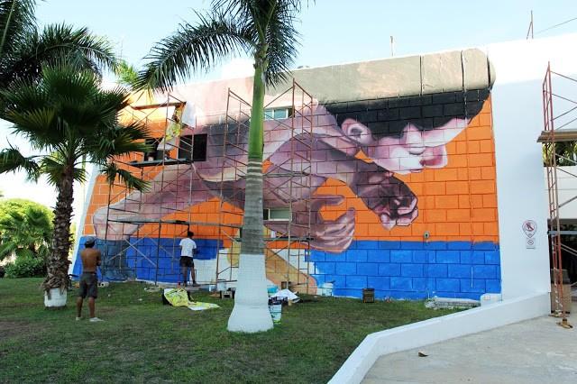 SeaWalls '15: Work In Progress by Ever in Cozumel, Mexico