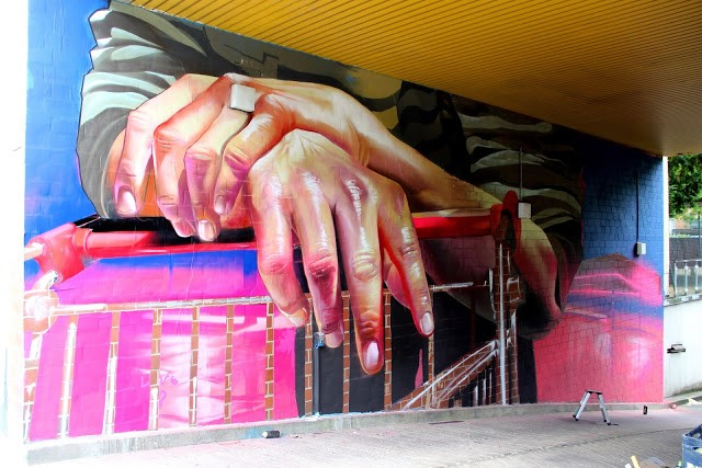 Case Ma'Claim unveils a new mural in Berlin, Germany