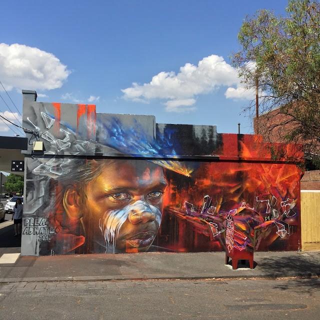 Adnate & Plea collaborate on a new piece in Melbourne, Australia