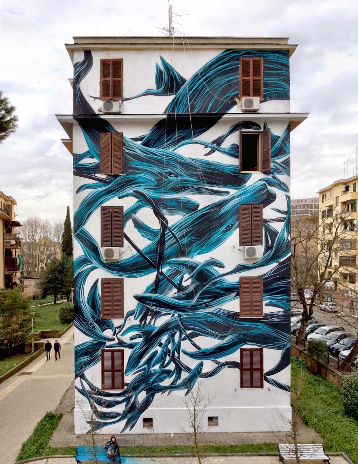 Pantonio creates a new piece in Rome, Italy
