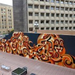Reka paints a new mural in Washington DC, USA