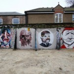 Borondo x Alexis Diaz, Pixel Pancho, RUN, Cane Morto New Street Pieces – London, UK