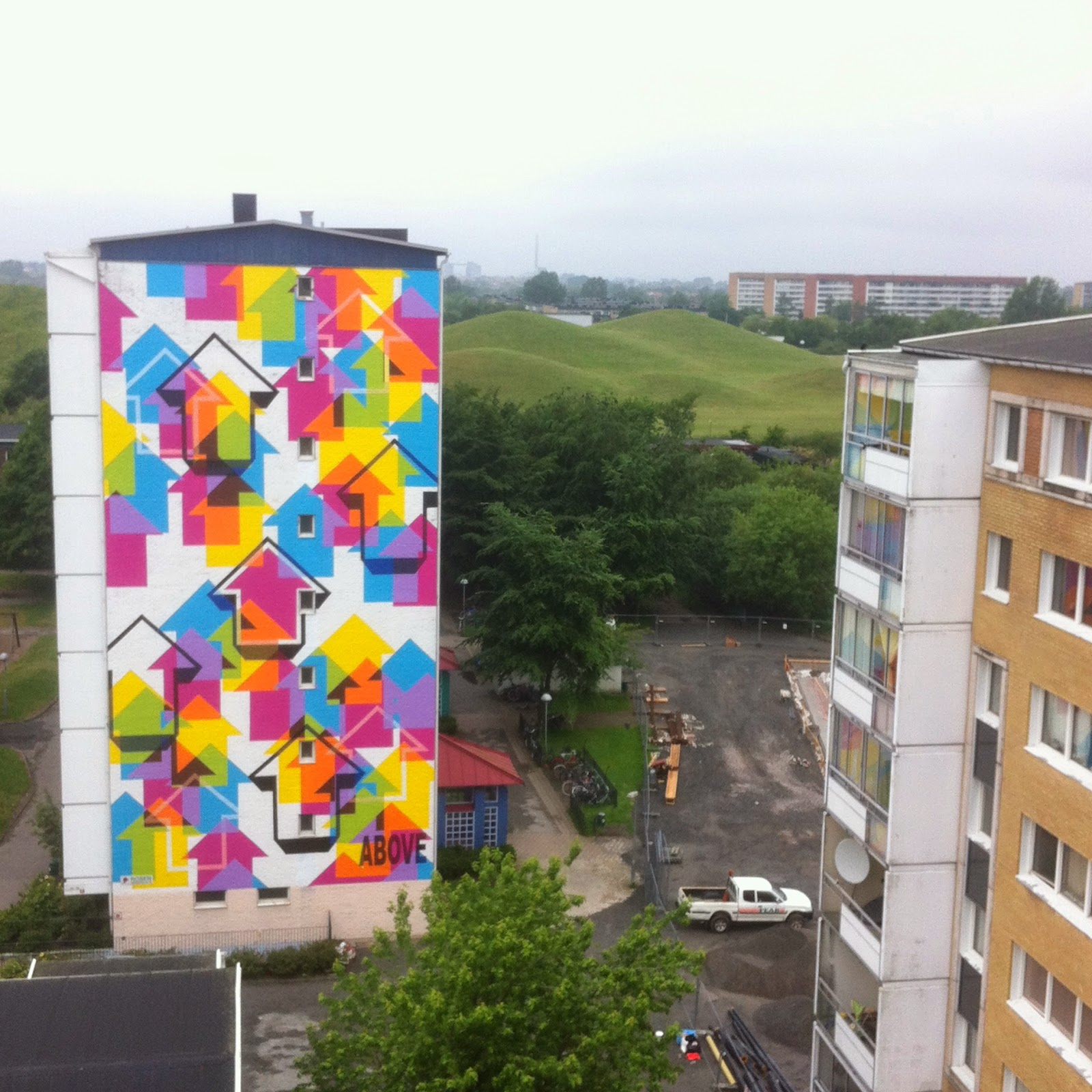 Above New Mural For ArtScape Festival – Malmo, Sweden