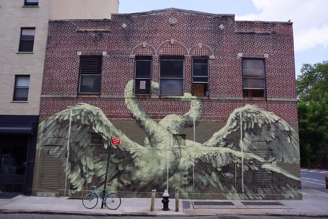 Faith47 unveils a new mural in Manhattan, New York City