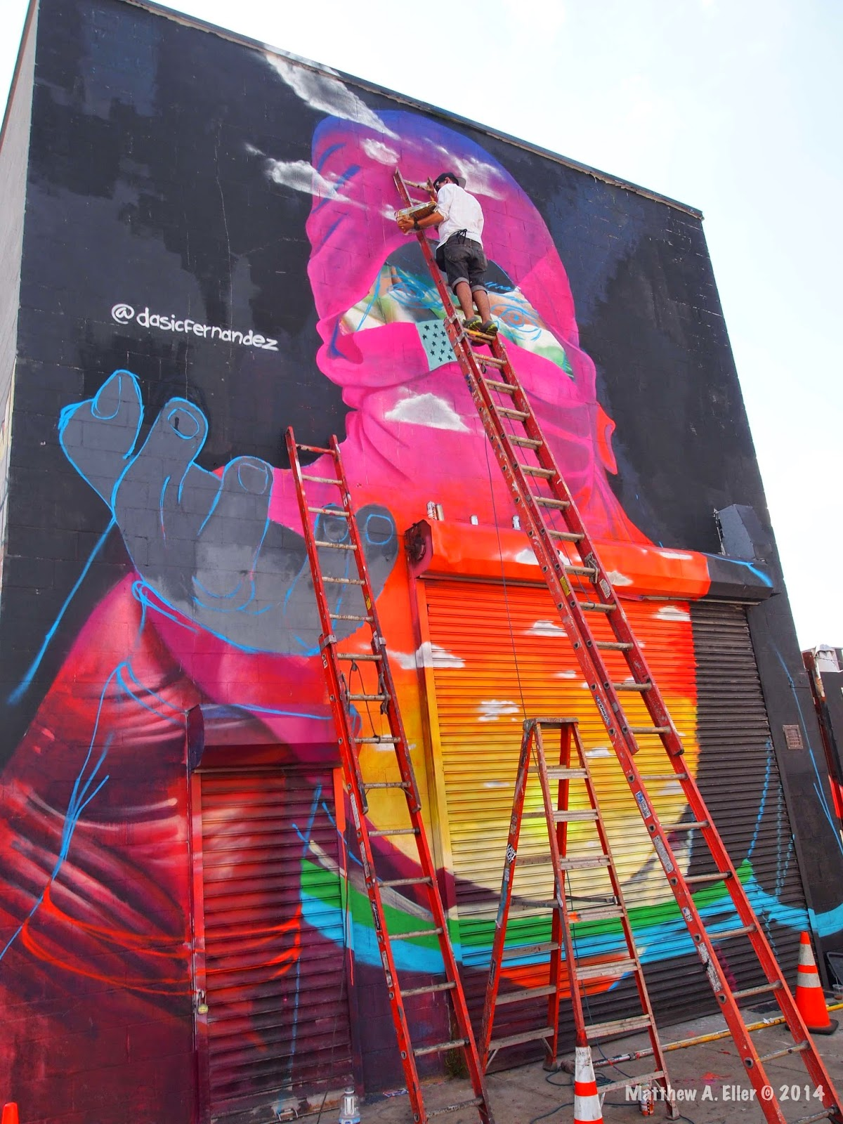 "Dasic Fernandez – Work in Progress ""Hand of Protest"" – The Bushwick Collective – Brooklyn, NYC"